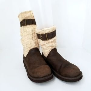 UGG | Leather and Sweater Boots